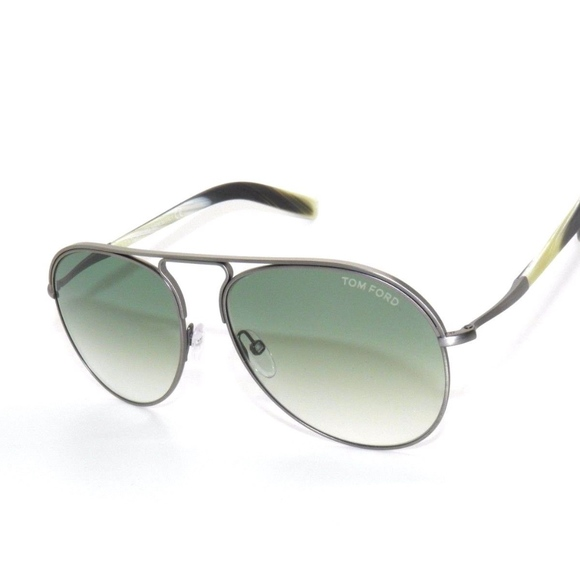 2f923ad10be72 TOM FORD CODY TF44 S  HORN GREEN SUNGLASSES NEW !